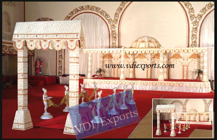 MATCHING THEMED WEDDING MANDAP