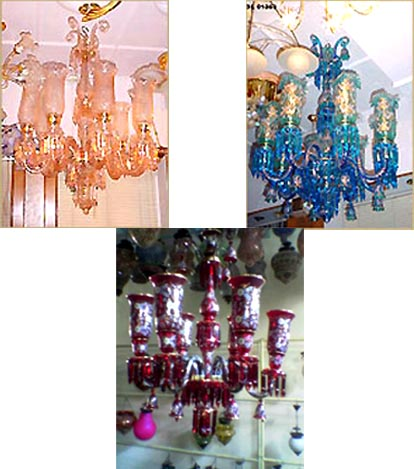 COLOURFUL CHANDELIERS