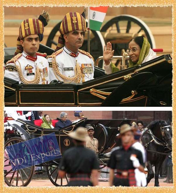 INDIAN PRESIDENT GUARD OF HONOR CARRIAGE