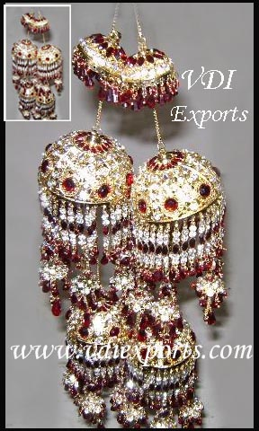 GOLDEN CRYSTAL STUDDED PUNJABI KALIRAH