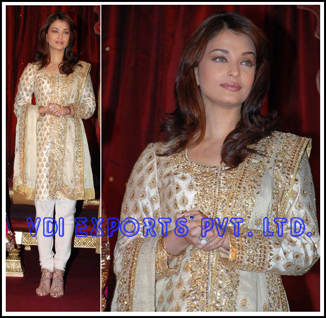 BOLLYWOOD AISHWARYA BACHAN EMBROIDERED  SUIT