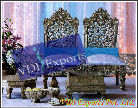 WEDDING MANDAP CARVED CHAIRS