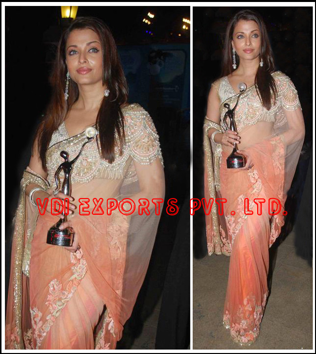 BOLLYWOOD AISHWARYA RAI BACHCHAN EMBROIDERED SAREE