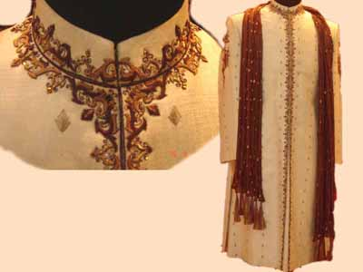 EMBROIDERED WEDDING ACHKAN