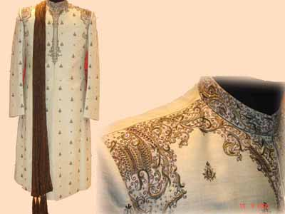 MATCHING EMBROIDERED SHERWANI