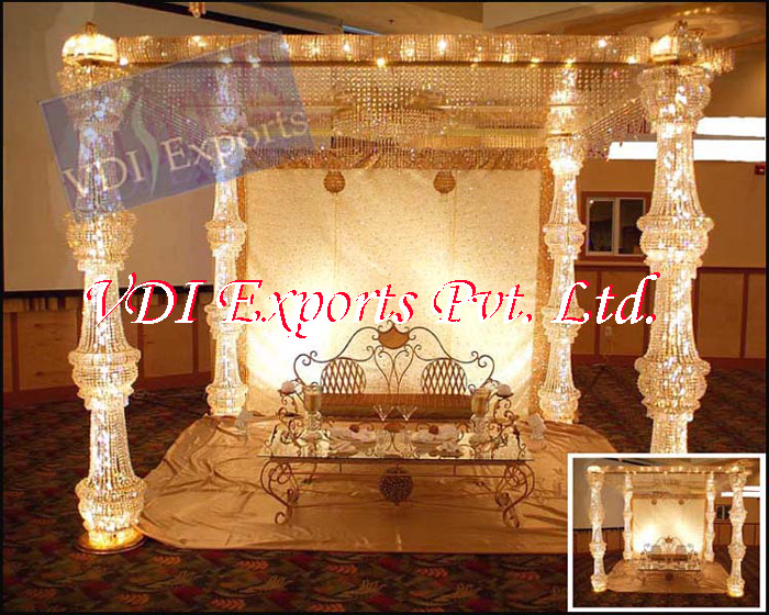 CRYSTAL DESIGNER WEDDING MANDAPS