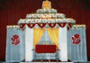 HINDU WEDDING  MANDAP WITH TISSUE  BACKDROP