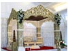 GOLDEN EMBOSSED WEDDING MANDAP