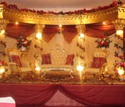 ROYAL FIBRE  FOUR  PILLARED WEDDING MANDAP