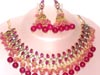 BEADED HOT RED JEWELLERY SET