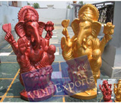 GANESHA FIBER STATUES WITH MATCHING PILLAR