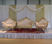 WEDDING BACKDROPS WITH MATCHING THRONE