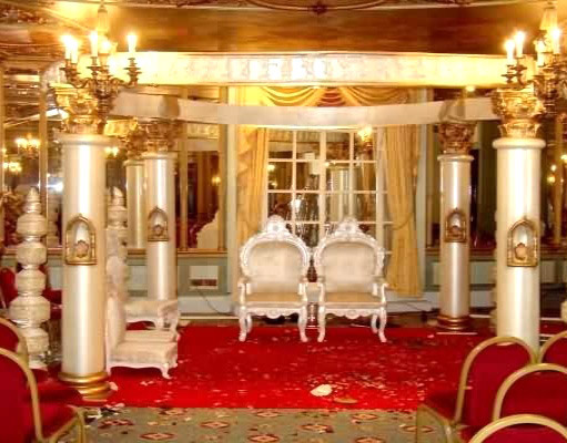 TRADITIONAL FIBRE ROUND MANDAP