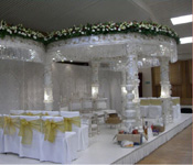 SIX PILLAR MANDAP WITH ENTRANCE & CHAIR COVERS