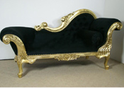 GOLDEN ROYAL CARVED COUCH