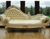 ROYAL WEDDING CARVED COUCH