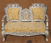 SILVER CARVED TWO SEATER