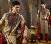 SEQUINED DESIGNER MEN SHERWANI