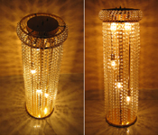 AISLE CRYSTAL LIGHTED PILLARS