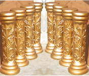 EMBOSSED AISLE FIBER PILLARS
