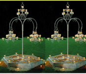 WROUGHT IRON WEDDING CANDLE STAND