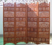 CARVED WOODEN PARTITIONS