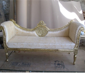 ROYAL SILVER DECO THREE SEATER SET