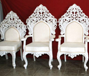 CRYSTAL CARVED WEDDING CHAIRS