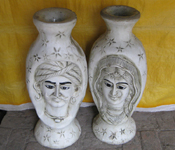 MALE FEMALE FIBER FLOWER POTS