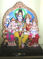 STATUE OF SHIV PARVATI WITH FAMILY