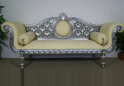 LATEST SILVER CARVED WEDDING THRONE
