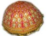 RED EMBROIDERED INDIAN WEDDING UMBRELLA