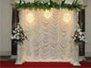WRINKLE LIGHTED BACKDROP WITH PILLARS